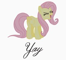 Fluttershy Yay Tee by Gqualizza