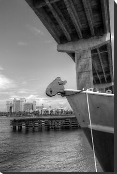 View of Atlantis from under the bridge at Potter's Cay - Nassau, The Bahamas by 242Digital