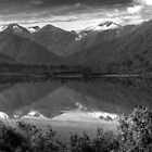 Lake Mountain BW by DavidsArt