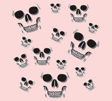 14 Skulls (Black Version) by ezcreative