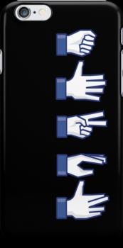Rock, Paper, Scissors, Lizard, Spock iPhone Cover by pixelwolfie