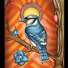 Blue Bird Iphone case by Psycheart