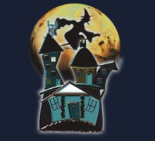 Happy Halloween from the Witch's Condo T-shirt by Dennis Melling