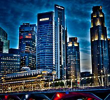Dusk at Singapore CBD by RickyMoorePhoto