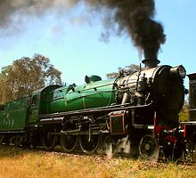 Shiny Green Steamin' Machine by Michael Matthews