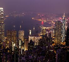 Hong Kong Skyline by RickyMoorePhoto