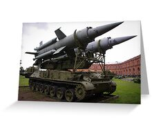 St Petersburg - Missile Launcher Greeting Card