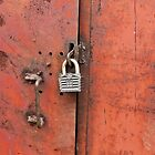 padlock on the door by mrivserg