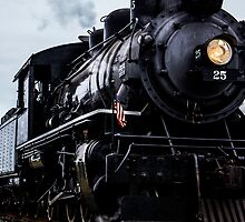 Black Train Engine by Marilyn Schmidlin
