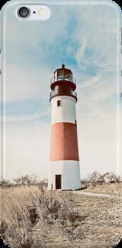 Sankaty Head Lighthouse on the island of Nantucket MA by Mariannne Campolongo