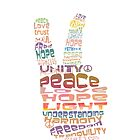 Peace sign iPhone and iPod case by Karin  Taylor