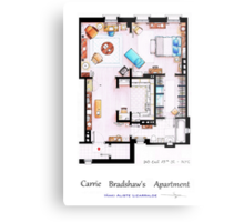 Carrie Bradshaw's Apartment Floorplan v.2 Metal Print