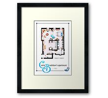 Carrie Bradshaw's Apartment as a POSTER Framed Print