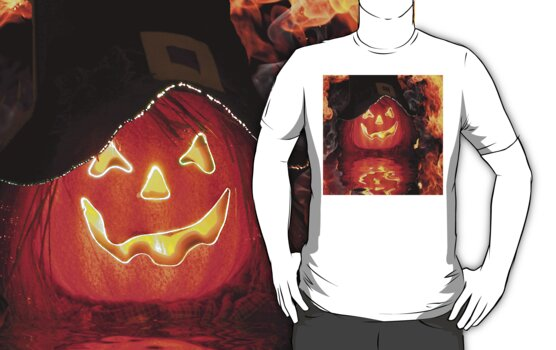 Fire Pumpkin Tee by Rick  Friedle
