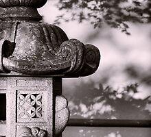 Statue in the Garden by Don Schwartz