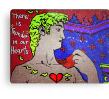 """There Is Thunder In Our Hearts"""" Metal Print"""