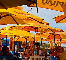 Orange Umbrellas in Brazil 2 by oftheessence