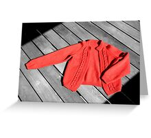 The Red Cardigan Greeting Card