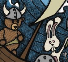 Teddy Bear And Bunny - Rape And Pillage  Sticker
