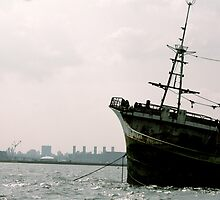 Sunken Ship in the City by oftheessence