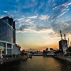 Sunset @ Clarke Quay by Kelvin Won