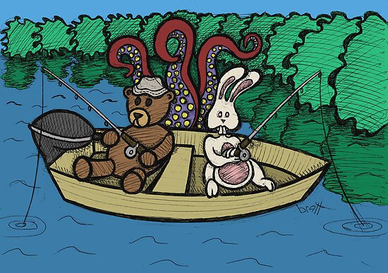 Teddy Bear And Bunny - Ignorance Is Bliss by Brett Gilbert