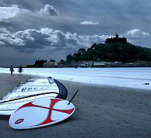 A Morning Walk at St Michaels Mount by Harry Purves