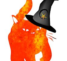 WITCHY HALLOWEEN CAT by artbya