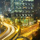 Traffic in Hong Kong downtown by kawing921