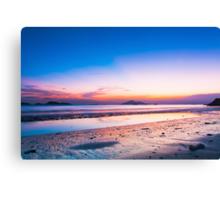Sunset at coast in Hong Kong Canvas Print