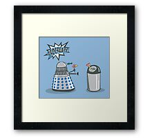 Dalek Crush Framed Print