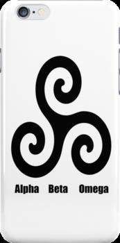 Triskele - Alpha, Beta, Omega iPhone4 case by cargandryn