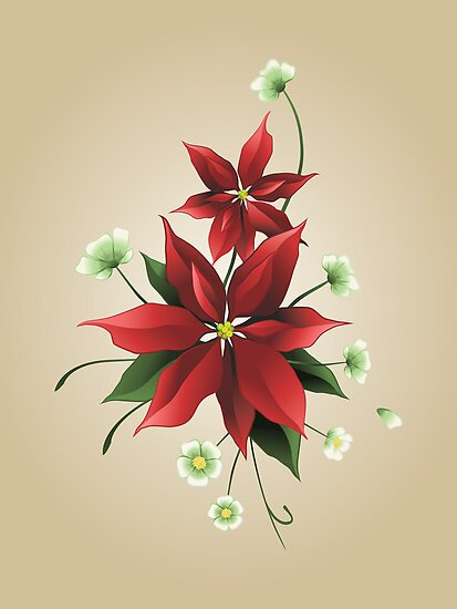 Christmas Poinsettias by elenab