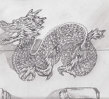 jade dragon pencils by daniel lamb