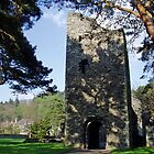 Cross Kirk 12th century monastery Peebles Scotland  by Grace Johnson