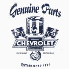 Chevrolet Genuine Parts Light Colours by No17Apparel