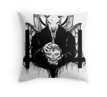 Satan Gets Ahead Throw Pillow