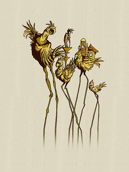 Dali Chocobos by BootsBoots