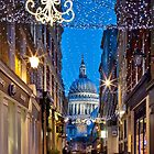 Christmas in Watling Street & St Pauls by JzaPhotography