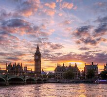 Big Ben at sunset  by Pancake76