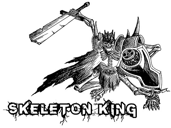 【5900+ views】DotA: Leoric the Skeleton King (骷髅王李奥瑞克) by Shaojie Wang