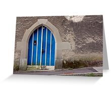 Blue Door in Luzern Greeting Card