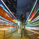 Traffic in downtown of a city, pearl of the east: Hong Kong. by kawing921