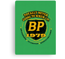 Retro BP Shirt Canvas Print