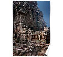 Angkor Thom Balcony Poster