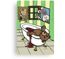 Teddy Bear And Bunny - The Discovery Canvas Print