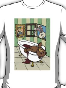 Teddy Bear And Bunny - The Discovery T-Shirt