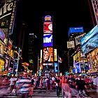 Times Square at Night by mikeyg2000