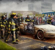 Firemen - The fire demonstration by Mike  Savad
