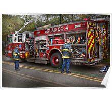 Firemen - The modern fire truck Poster